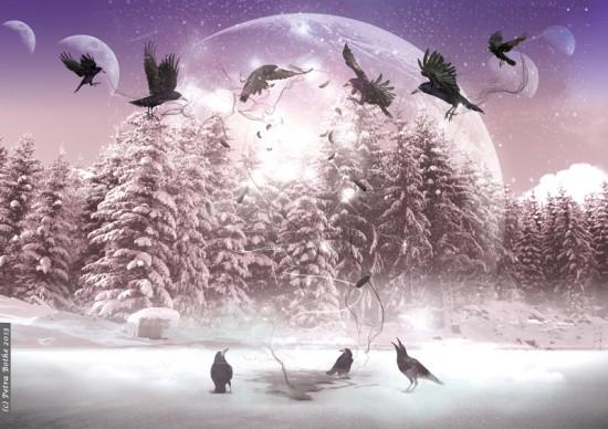 Winter mit Raben